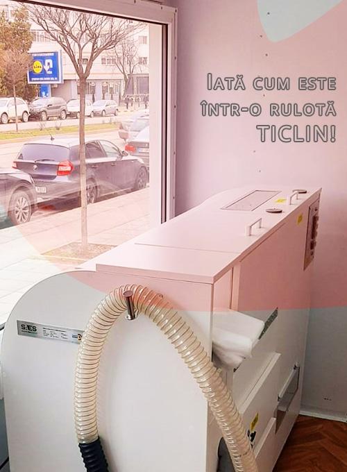 TICLIN Tur Rulotă Curățat Perne
